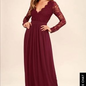 Lulus Size medium crochet long sleeve maxi dress